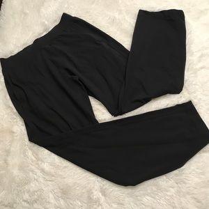 Lululemon Black Loose Fitting Pants Size Large